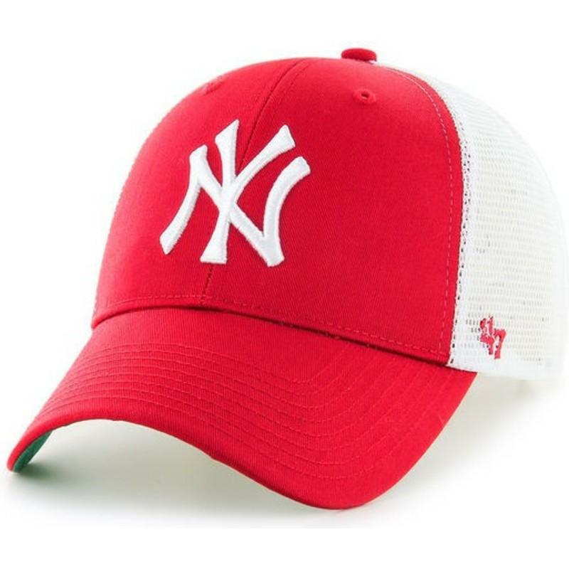 casquette trucker rouge new york yankees mlb mvp 47 brand acheter en ligne sur caphunters. Black Bedroom Furniture Sets. Home Design Ideas