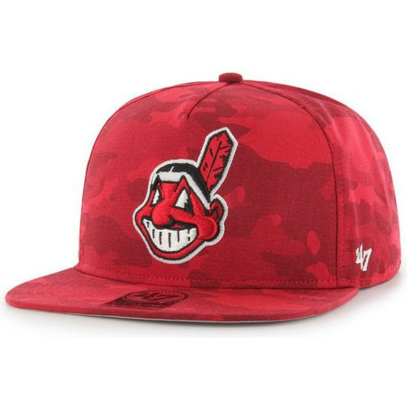 casquette-plate-rouge-camouflage-snapback-cleveland-indians-mlb-captain-dt-47-brand