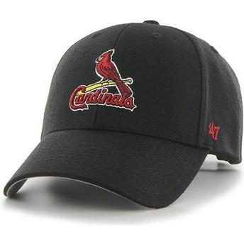 Casquette courbée noire avec logo classique Saint Louis Cardinals MLB MVP 47 Brand