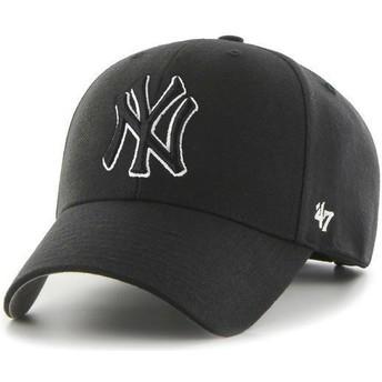 Casquette courbée noire snapback avec logo noire New York Yankees MLB MVP 47 Brand