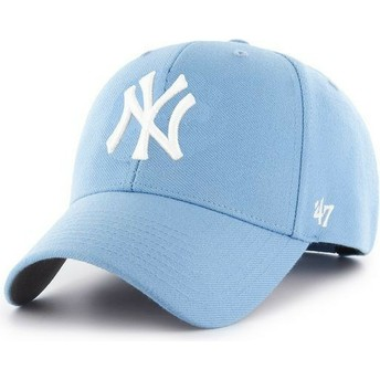 Casquette courbée bleue claire snapback New York Yankees MLB MVP 47 Brand