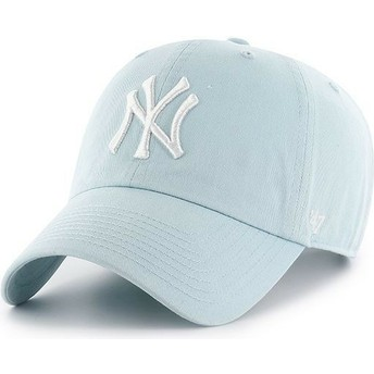 Casquette courbée bleue claire New York Yankees MLB Clean Up 47 Brand