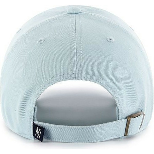 casquette-courbee-bleue-claire-new-york-yankees-mlb-clean-up-47-brand