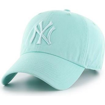 Casquette courbée verte claire avec logo vert clair New York Yankees MLB Clean Up 47 Brand