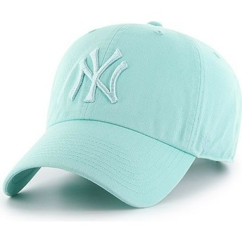Casquette courbée verte claire New York Yankees MLB Clean Up 47 Brand