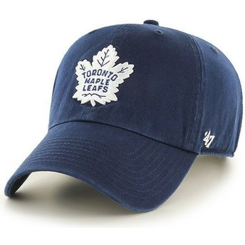 Casquette courbée bleue marine Toronto Maple Leafs NHL Clean Up 47 Brand