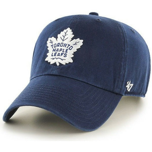 casquette-courbee-bleue-marine-toronto-maple-leafs-nhl-clean-up-47-brand