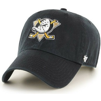 Casquette courbée noire Anaheim Ducks NHL Clean Up 47 Brand