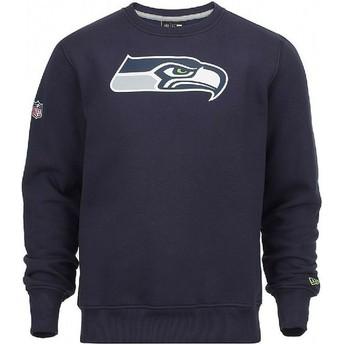 Sweat-shirt bleu Crew Neck Seattle Seahawks NFL New Era