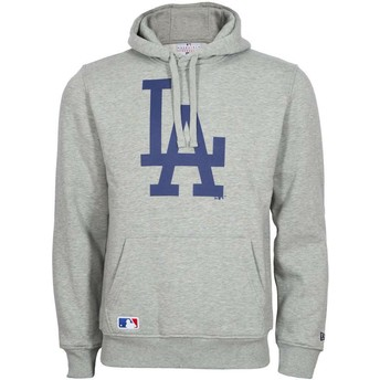 Sweat à capuche gris Pullover Hoodie Los Angeles Dodgers MLB New Era