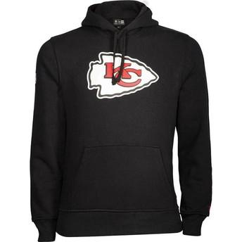 Sweat à capuche noir Pullover Hoodie Kansas City Chiefs NFL New Era