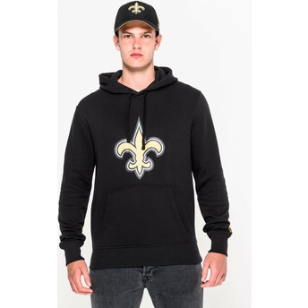 Sweat à capuche noir Pullover Hoodie New Orleans Saints NFL New Era