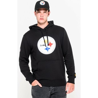 Sweat à capuche noir Pullover Hoodie Pittsburgh Steelers NFL New Era