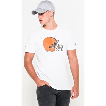 T-shirt à manche courte blanc Cleveland Browns NFL New Era