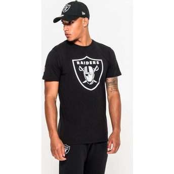 T-shirt à manche courte noir Oakland Raiders NFL New Era