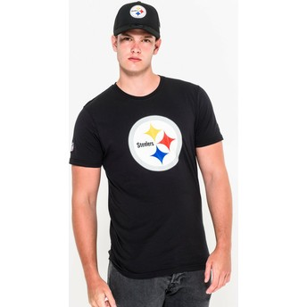 T-shirt à manche courte noir Pittsburgh Steelers NFL New Era