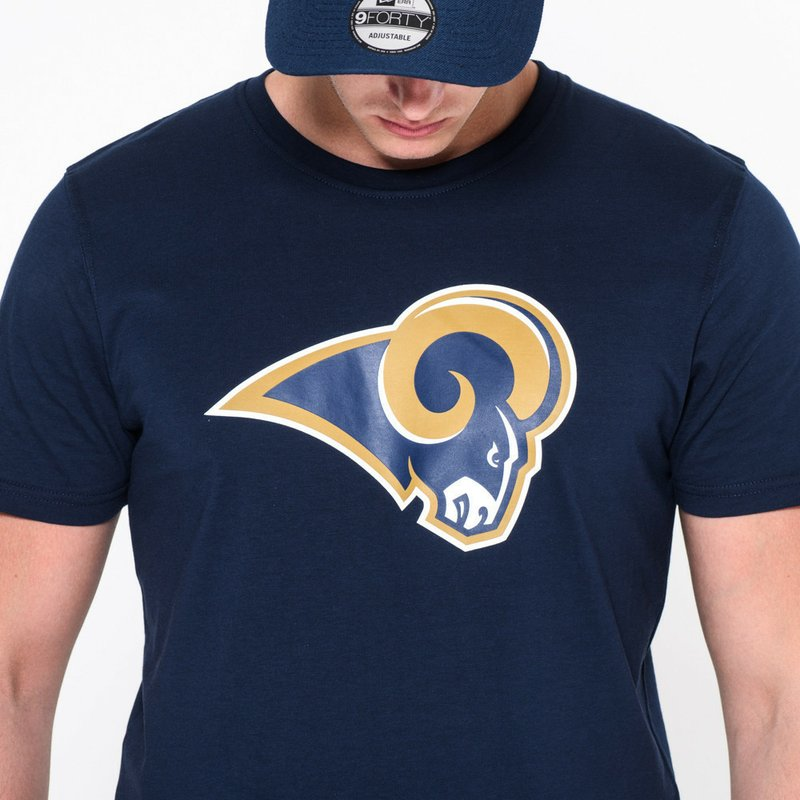 t shirt manche courte bleu los angeles rams nfl new era acheter en ligne sur caphunters. Black Bedroom Furniture Sets. Home Design Ideas