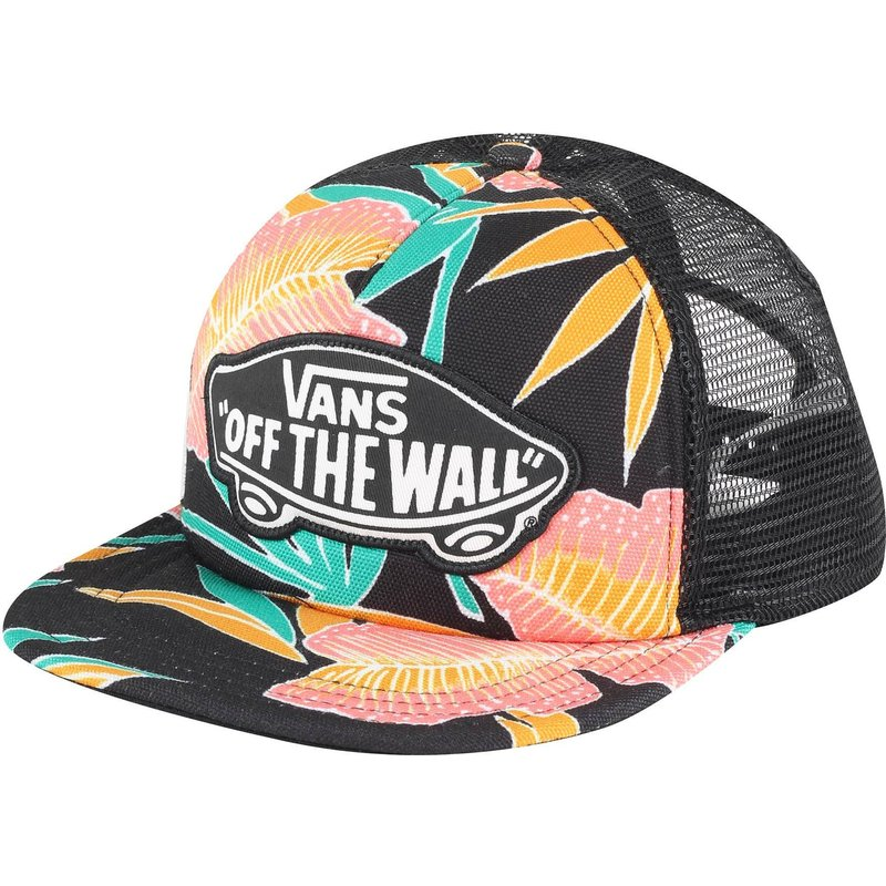 casquette-trucker-multicolore-beach-girl-tropical-vans