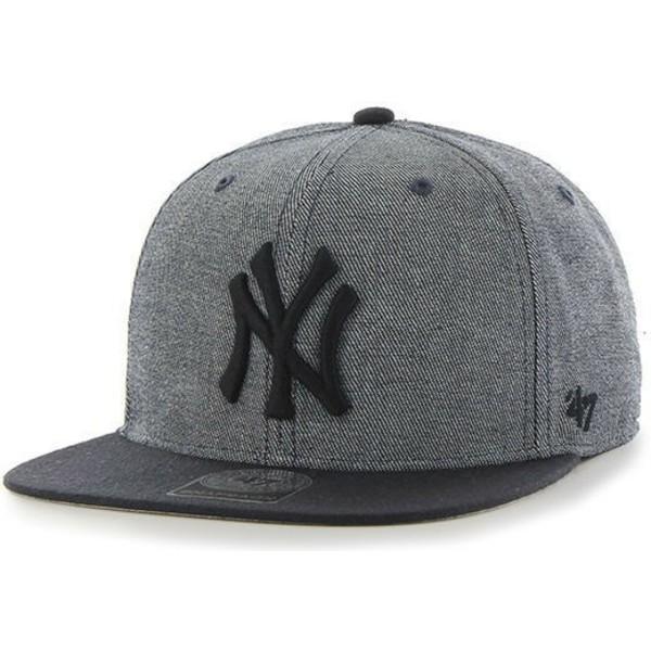 casquette-plate-gris-snapback-new-york-yankees-mlb-giovanni-captain-47-brand
