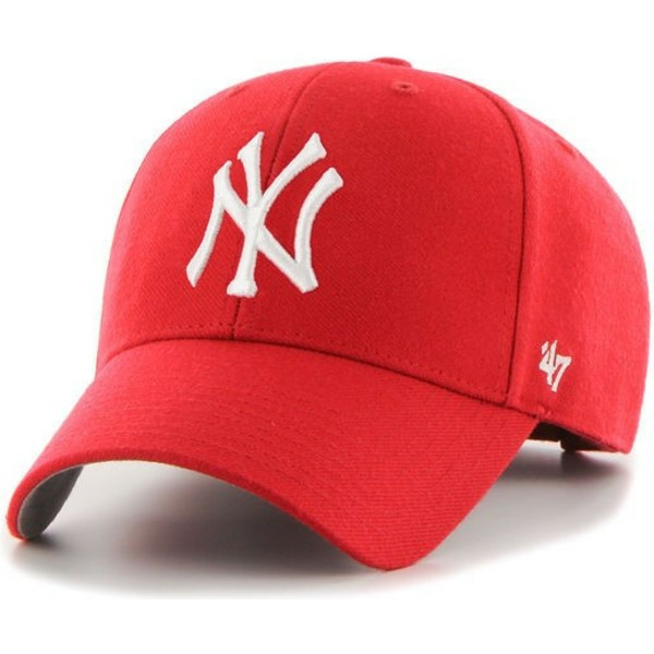 casquette-courbee-rouge-new-york-yankees-mlb-mvp-47-brand