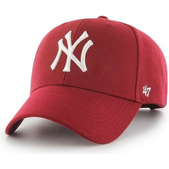 Casquette courbée rouge foncé snapback New York Yankees MLB MVP 47 Brand