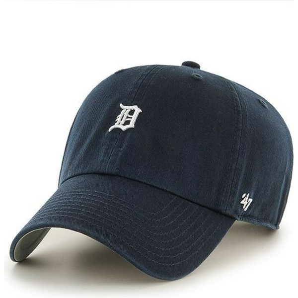 casquette-courbee-bleue-marine-avec-mini-logo-detroit-tigers-mlb-clean-up-47-brand