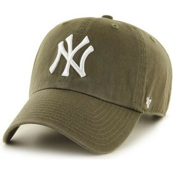 Casquette courbée marron New York Yankees MLB Clean Up 47 Brand