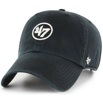 Casquette courbée noire avec logo 47 Clean Up 47 Brand