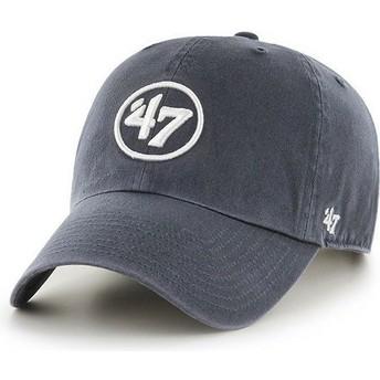 Casquette courbée bleue marine avec logo 47 Clean Up 47 Brand