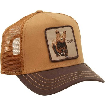 Casquette trucker marron ourson Cub Goorin Bros.