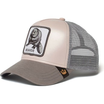 Casquette trucker rose castor Dam It Goorin Bros.