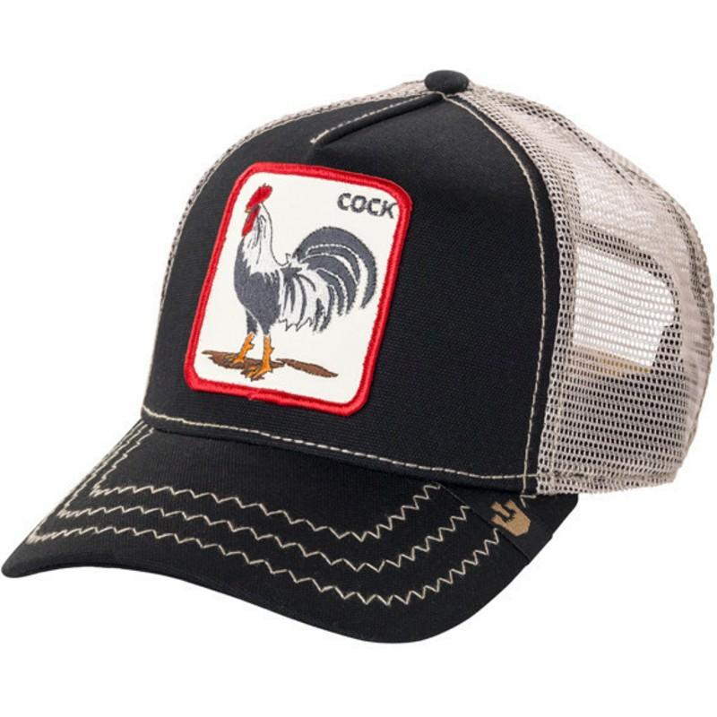 Casquette Trucker Noire Coq Rooster Goorin Bros Acheter