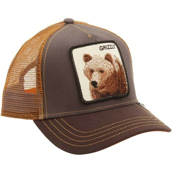 Casquette trucker marron ours Grizz Goorin Bros.
