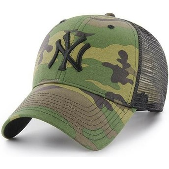 Casquette trucker camouflage avec logo noir New York Yankees MLB Branson MVP 47 Brand