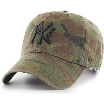 Casquette courbée camouflage avec logo noir New York Yankees MLB Regiment Clean Up 47 Brand