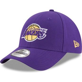 Casquette courbée violette ajustable 9FORTY The League Los Angeles Lakers NBA New Era