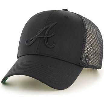 Casquette trucker noire avec logo noir Atlanta Braves MLB MVP Branson 47 Brand