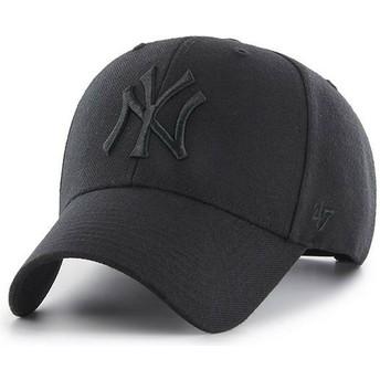 Casquette courbée noire snapback avec logo noir New York Yankees MLB MVP 47 Brand