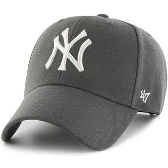 Casquette courbée grise foncé snapback New York Yankees MLB MVP 47 Brand