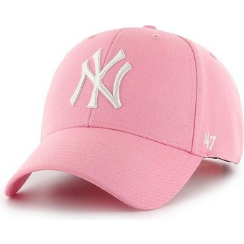 Casquette courbée rose snapback New York Yankees MLB MVP 47 Brand