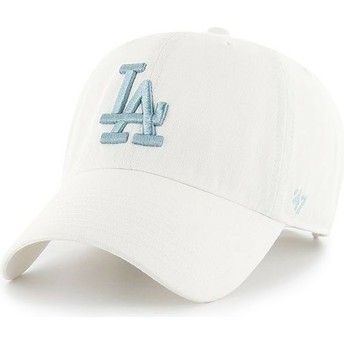 Casquette courbée blanche avec logo bleue Los Angeles Dodgers MLB Clean Up 47 Brand