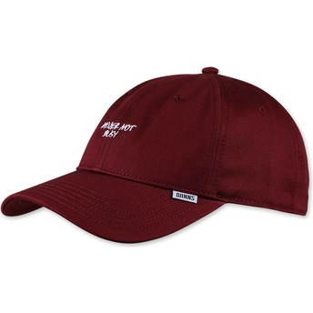 Casquette courbée rouge ajustable Texting Never Not Busy Djinns