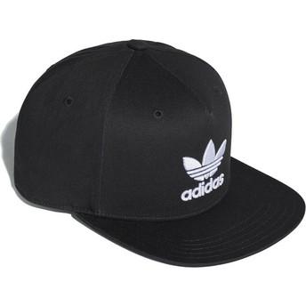 Casquette plate noire snapback Trefoil Adidas