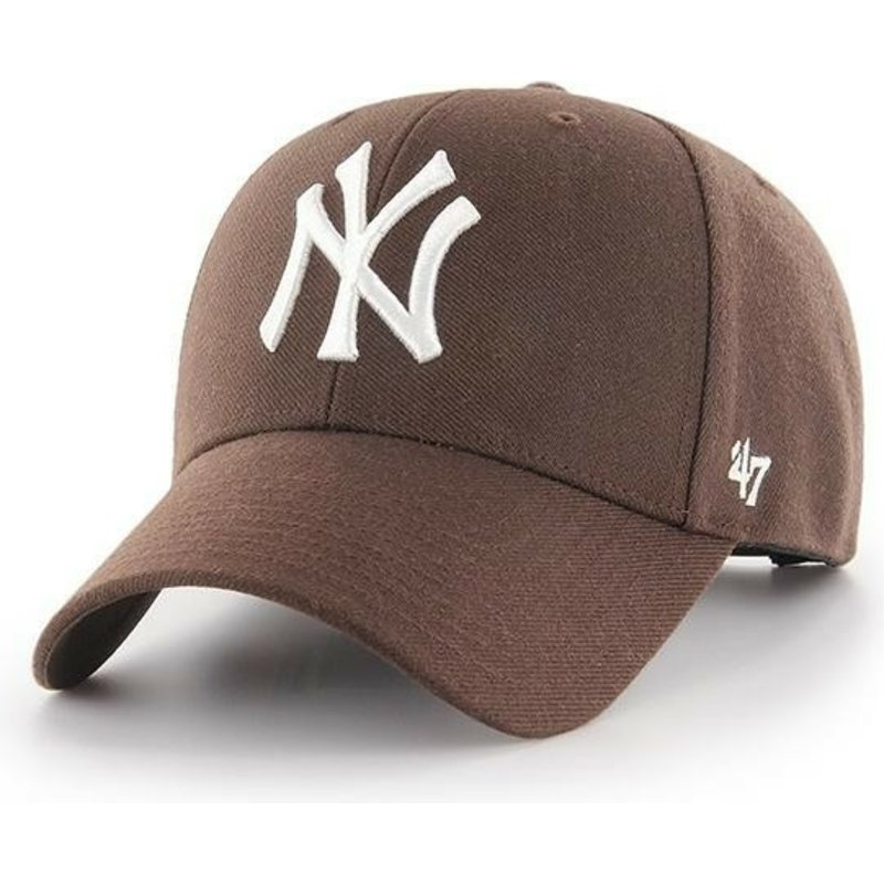 casquette-courbee-marron-snapback-new-york-yankees-mlb-mvp-47-brand