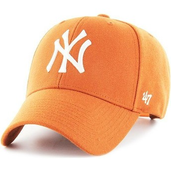 Casquette courbée orange snapback New York Yankees MLB MVP 47 Brand