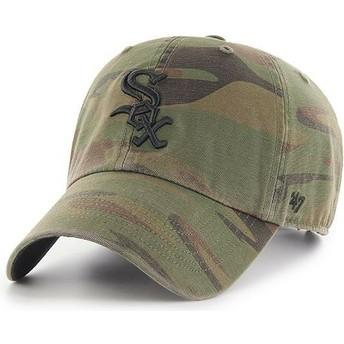 Casquette courbée camouflage avec logo noir Chicago White Sox MLB Clean Up Regiment 47 Brand