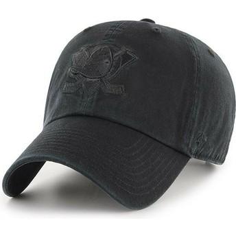 Casquette courbée noire avec logo noir Anaheim Ducks NHL Clean Up 47 Brand
