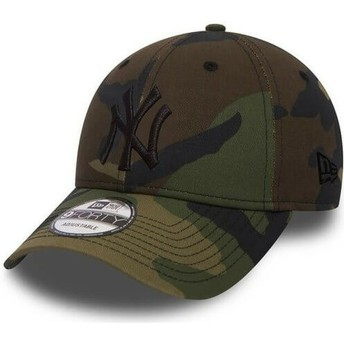 Casquette courbée camouflage avec logo noir ajustable 9FORTY Essential New York Yankees MLB New Era