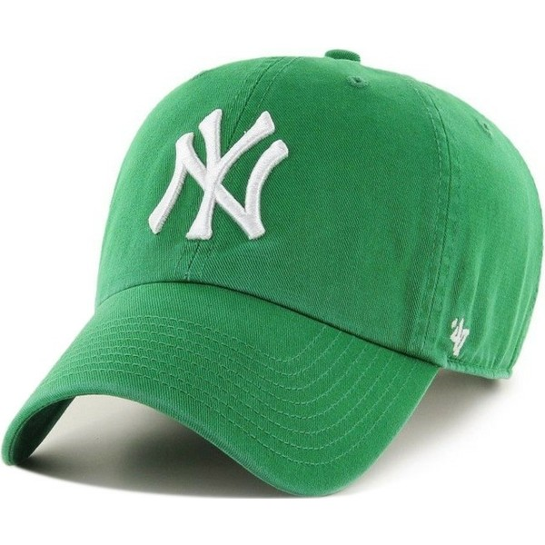 casquette-courbee-verte-new-york-yankees-mlb-clean-up-47-brand