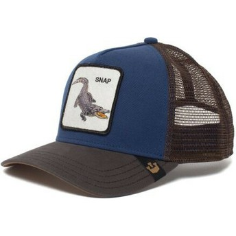 Casquette trucker bleue crocodile Snap At Ya Goorin Bros.